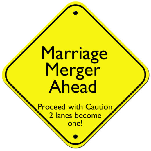 marriage merger sign copy